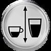 Regulowana wysokość adaptera do kawy